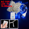 EU Plug Blue 78 LEDs 8 Modes String Lights Decor 10.5M AC 110V