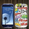 Colorful Latin Letter Graffiti Pattern Hard Case Cover for Samsung Galaxy S3 SIII I9300