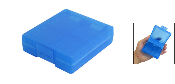 Blue Plastic 16 Compartments Case Holder for Memory Game Card