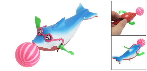Multicolored Plastic Running Dolphin Wind up Toy for Children