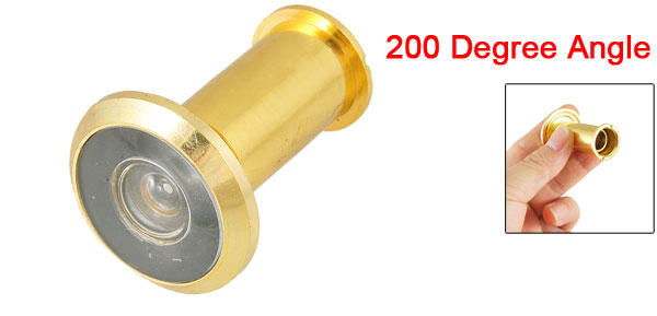 Gold Tone Metal 35-50mm Thick Door 200 Degree Angle Viewer Peephole