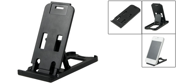 Black Universal Adjustable Phone Holder Cradle for Cell Phone