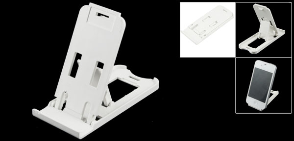 White Universal Adjustable Phone Holder Cradle for Mobile Phone