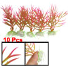 "10 Pcs Aquarium Decor 4.7"" x 3.2"" Colorful Plastic Plant w Cerami..."