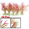 """10 Pcs Aquarium Decor 4.7"""" x 3.2"""" Colorful Plastic Plant w Cerami..."""
