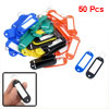 50 Pcs 5-Color Key ID Label Tags Split Ring Keyring Keychain