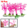 "10 Pcs Underwater 4.3"" High Fuchsia Manmade Plant Decor for Aquar..."