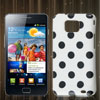 Dot Pattern White IMD Hard Back Cover Case Skin for Samsung Galaxy S II i9100
