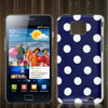 Blue Dot Design IMD Hard Back Cover Skin Case for Samsung Galaxy S II i9100