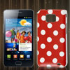Dot Print Red Hard IMD Back Case Cover Skin for Samsung Galaxy S 2 II i9100