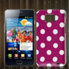 Dots Print Fuchsia Hard IMD Back Case Skin Cover for Samsung Galaxy S II i9100