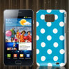 Dot Pattern Teal Blue Hard IMD Back Cover Case Skin for Samsung Galaxy S II i9100