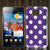 Dot Design Purple IMD Hard Back Case Skin Cover for Samsung Galaxy S 2 II i9100