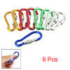 9 Pcs Assorted Color Aluminum Alloy Self Locking Carabiner Clip H...