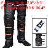 Pair Hook Loop Closure Plush Inner Winter Motorcycle Legs Knee Wa...