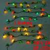 Christmas Decorative Rose Flower Shape Colorful LED Lights Hangin...
