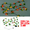 Christmas Tree Lighting Colorful Peanut Shape LED Lamps Hanging V...