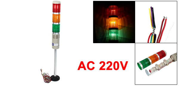 AC 220V Industrial Signal Tower Light Red Green Yellow Flash Lamp Buzzer