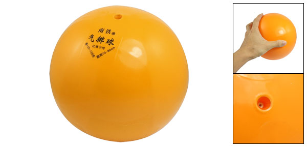 Orange Soft Rubber Inflatable Volleyball Beach Ball Toy 18cm Dia