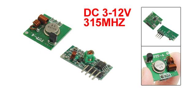 315MHZ -107dBm DC 3-12V 3P Wireless Transmitter DC 5V 4P Recesiver Module