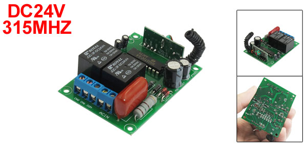 AC 220V 2 Channel RF Remote Control Switch Receiver Module for motor forward reverse