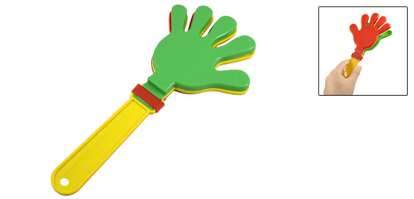 Plastic Red Yellow Green Party Noise Maker Hand Clapper Clacker
