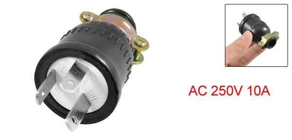 AU Plug AC 250V 10A Water Resistant Power Cord Plug Connector