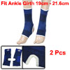 2 Pcs Stretchy Pull Over Open Heel Ankle Support Brace Black Blue