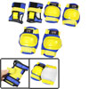 Adult Yellow Blue Detachable Closure Wrist Palm Elbow Knee Suppor...