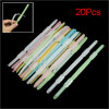 20Pcs 6cm Hole Distance Multicolor Plastic Prong Documents Clip P...