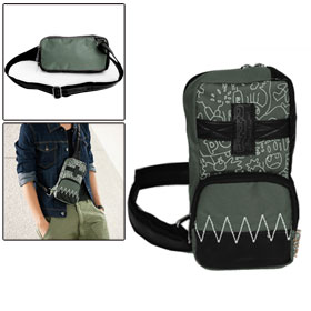 Mens Black Army Green Adjustable Band Fashion Outdoor Chest Bag