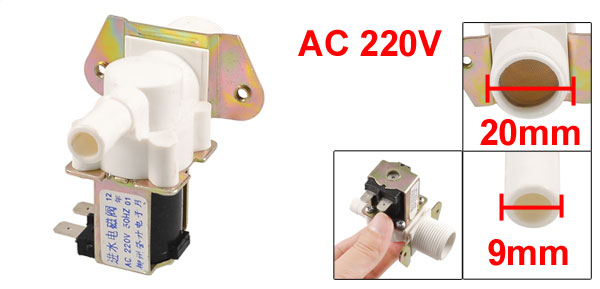 Replacement AC 220V 50Hz Water Inlet Solenoid Valve for Washing Machine Washer