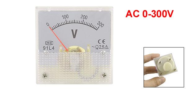 Plastic Housing AC 0-300V Scale Volt Panel Meter Gauge 45mmx45mm
