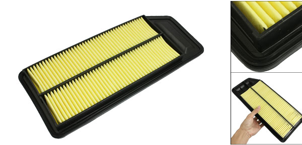 Car Air-intake System Panel Air Filter Black Yellow for Acura TSX