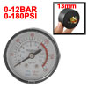 53mm Body 12.7mm Thread 0-12BAR 0-180PSI Air Gas Pressure Gauge M...