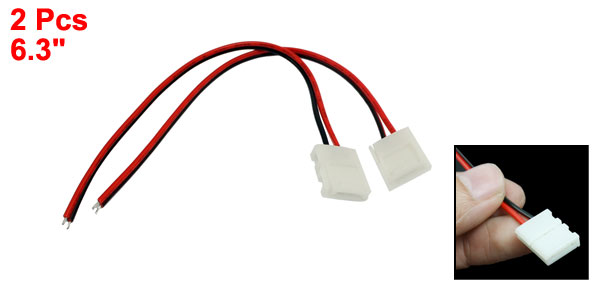 2 Pcs LED Light Strips B2P-8 Plug End Connector Cables 6.3