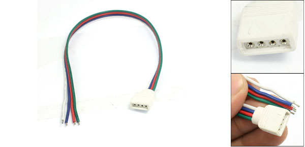 RGB LED Light Strips 4 Pin Female Connector Cable 11