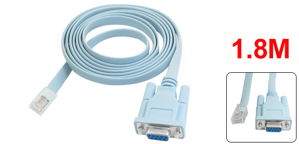 Rs232 DB9 Connector to RJ45 Cat5 Ethernet Adapter Cable for Routers Network