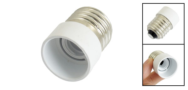 Screw Type Halogen CFL Lamp Bulb Adaptor Switched Base E27 to E14