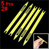 5 Pcs 2# Yellow Plastic Fishing Net Repair Netting Needle Shuttle...