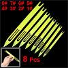 8 Pcs Yellow Plastic Fishing Line Repair Netting Needle Shuttles