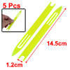 5 Pcs 5# Yellow Plastic Fishing Net Repair Netting Needle Shuttle...
