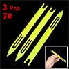 3 x Yellow Plastic Fishing Net Repair Needle Shuttles Bobbin 7#