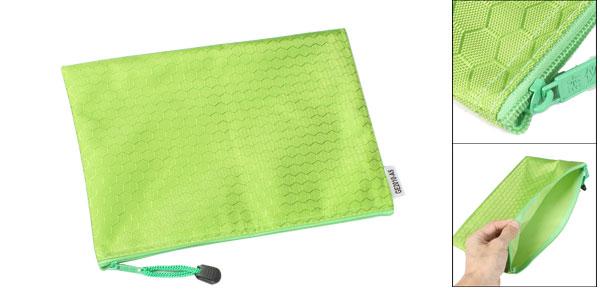 Hex Pattern Water Resistant A5 Paper Doucument File Pen Bag Folder Green