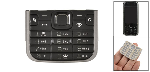 Black Replacement Keypad Keyboard Spare Part for Nokia 5730