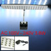 3.8W 68 LEDs White Blue Light Aquarium Clip Lamp AC 100V-240V w A...