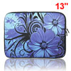 "13"" 13.3"" Flower Notebook Laptop Dual Zipper Sleeve Bag Case for ..."
