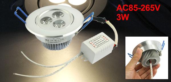 Ceiling Downlight Lamp Bright Warm White LED Down Light AC85-265V 3W