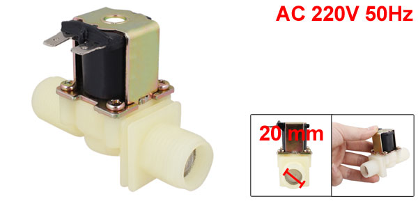 20mm Dia Male Thread Washing Machine Solenoid Water Valve AC 220V 50Hz