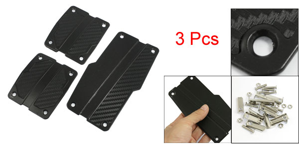 Racing Car Metal Antislip Clutch Brake Gas Pedal Cover Kit Black 3 in 1